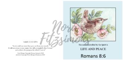 Life And Peace Wren - Faith Card