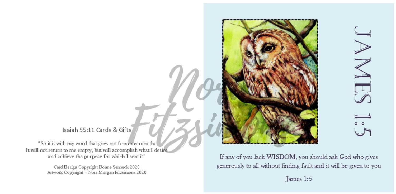 Wisdom - Owl - Faith Card