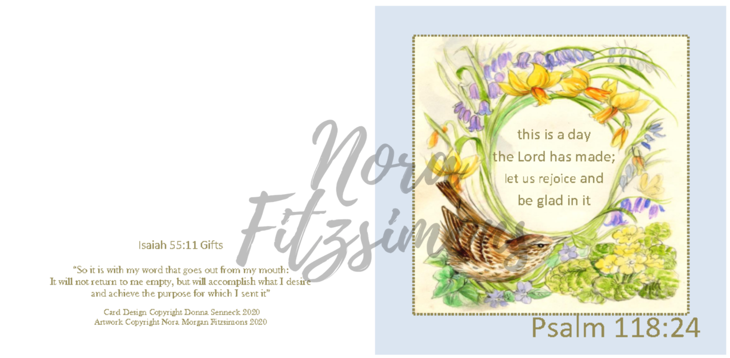 This Is The Day The Lord Has Made Wren Border - Faith Card