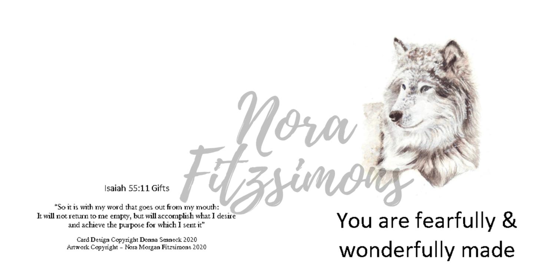 Fearfully And Wonderfully Made Wolf - Faith Card