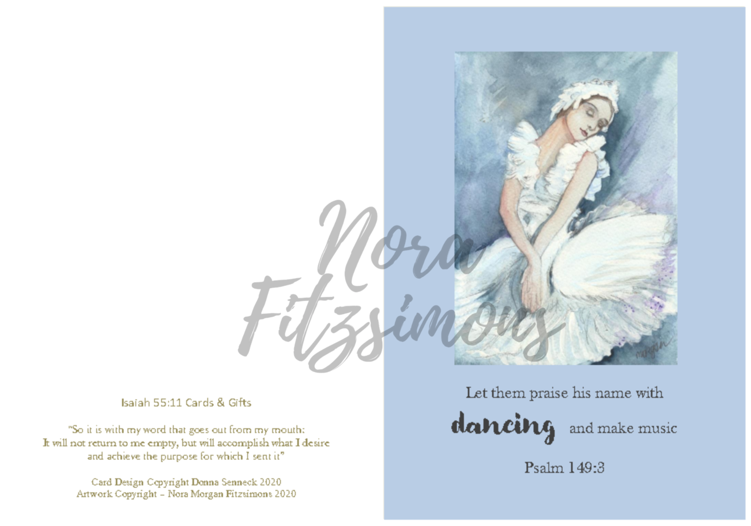 Let Them Praise His Name With Dancing - Faith Card