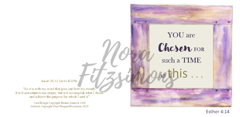 You Are Chosen - Faith Card
