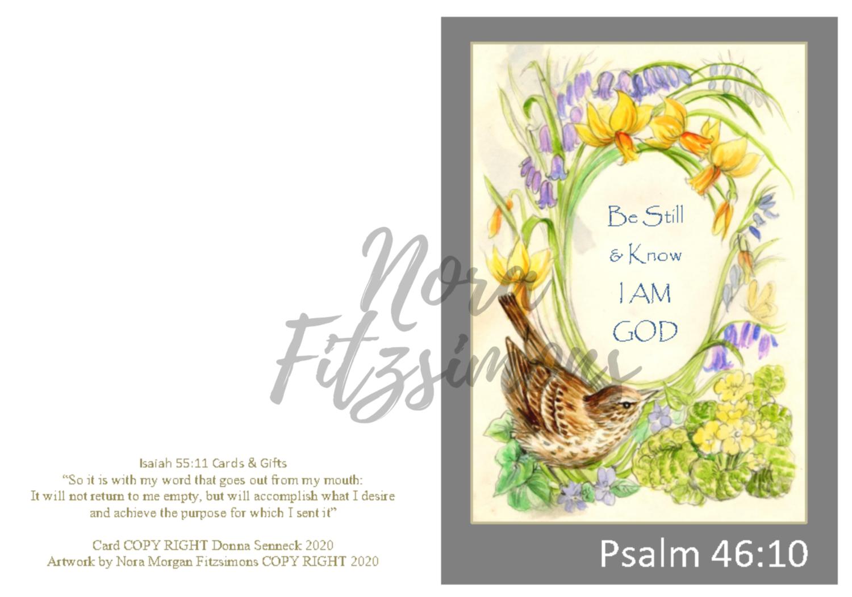 Be Still And Know That I Am God Wren - Faith Card