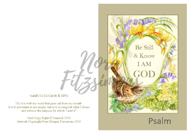Be Still And Know That I Am God Wren 2 - Faith Card