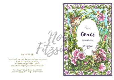 Grace Wren Border - Faith Card