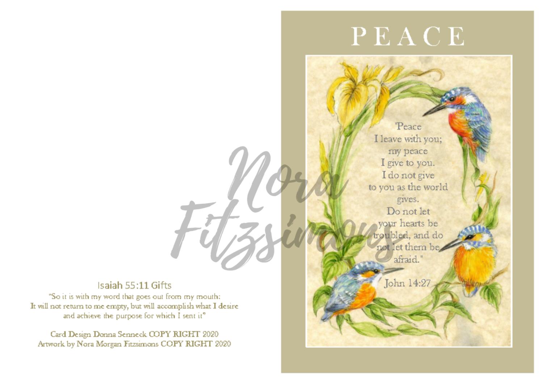 Peace - Kingfisher - Faith Card