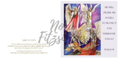 He Will Oder His Angels - Faith Card