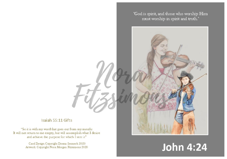 Worship In Spirit And Truth - Faith Card