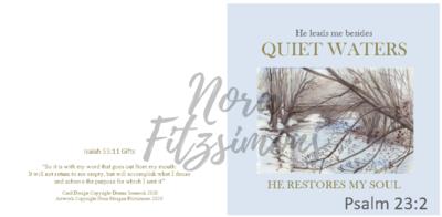 Quiet Waters - Faith Card