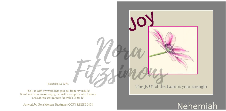 Joy Clematis - Faith Card