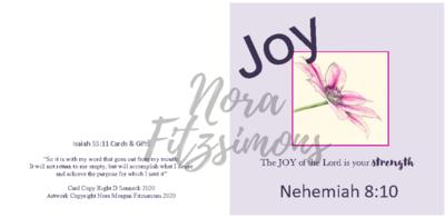 Joy Clematis 2 - Faith Card