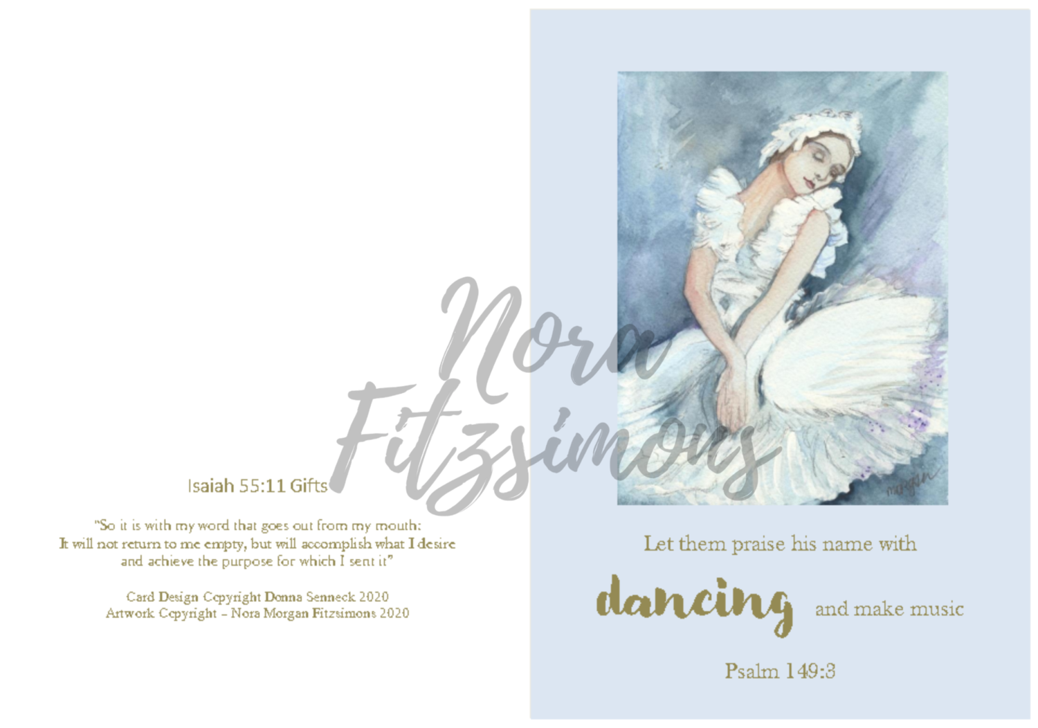 Let Them Praise His Name With Dancing 2 - Faith Card