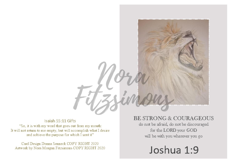 Strong And Courageous Lion - Faith Card