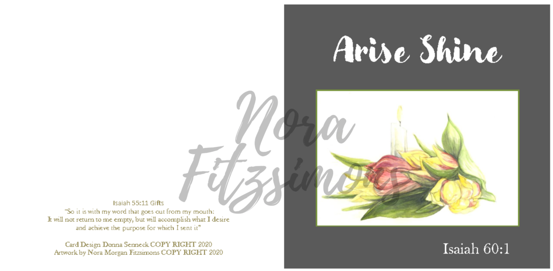 Arise Shine Tulips - Faith Card
