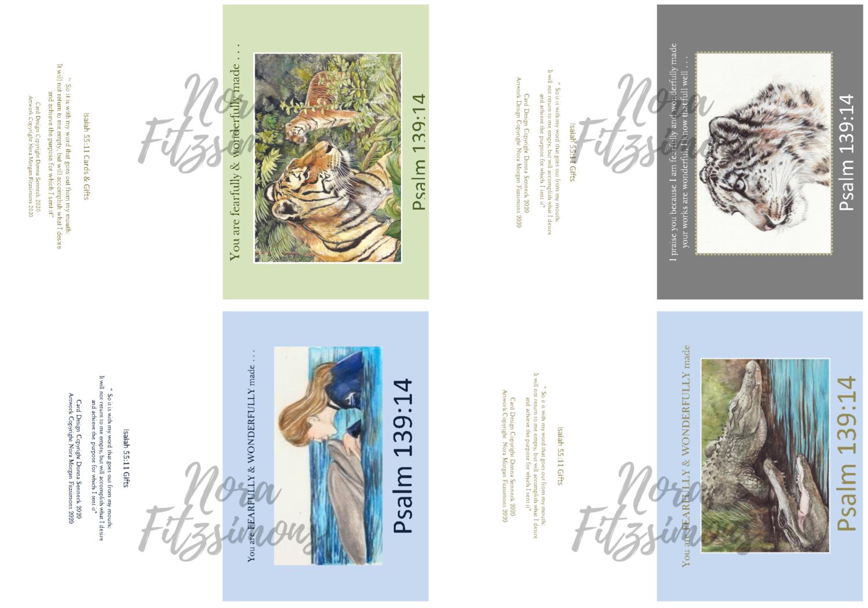 Random Animals Faith Cards - 4 pcs Bundle