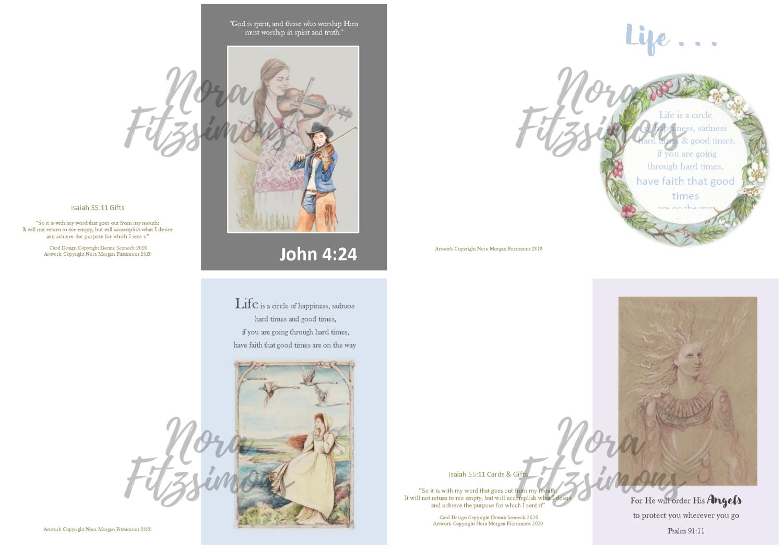 Quotes Faith Cards - 4 pcs Bundle