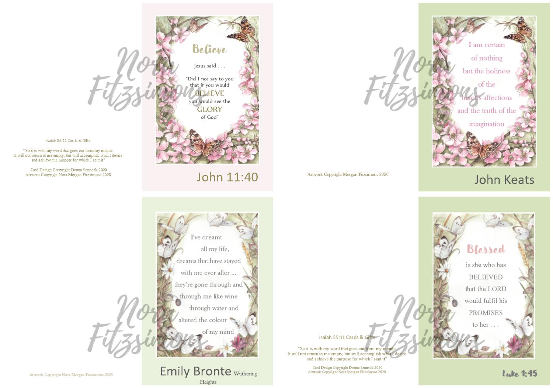 Quotes Faith Cards 2 - 4 pcs Bundle