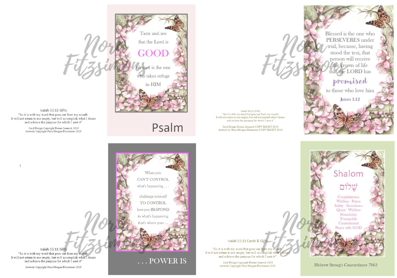 Quotes Faith Cards 3 - 4 pcs Bundle