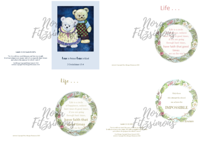 Life Is a Circle of Happiness Faith Cards - 4 pcs Bundle