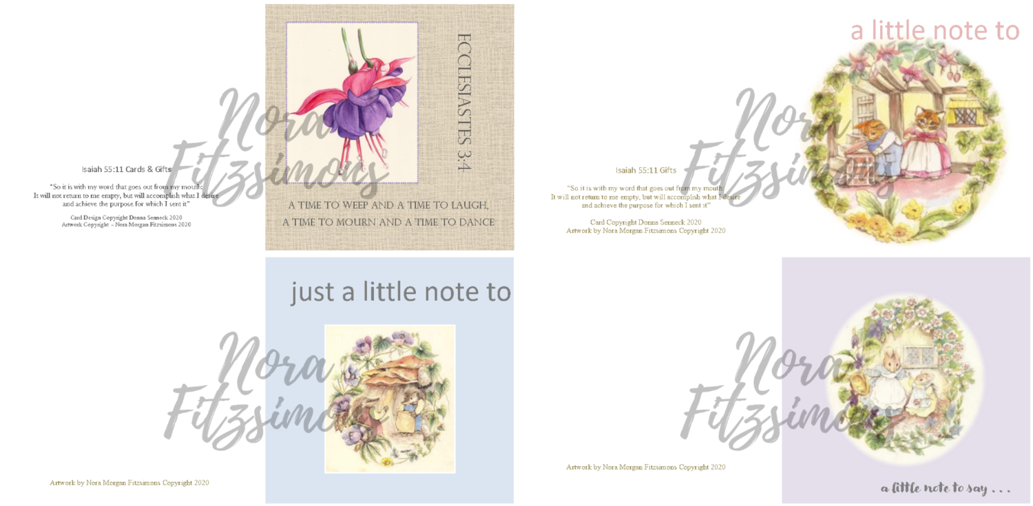 Just A Little Note Faith Cards - 4 pcs Bundle