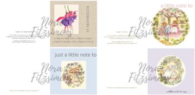 Just A Little Note Faith Cards - 4 pcs Bundle