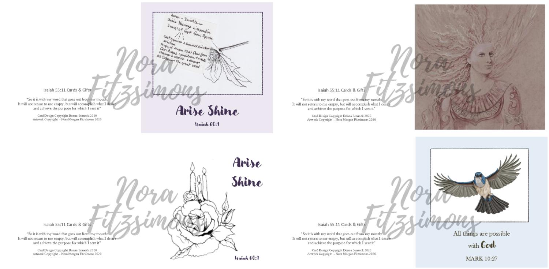 Arise Shine Faith Cards - 4 pcs Bundle