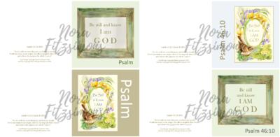 Know That I am God Faith Cards - 4 pcs Bundle