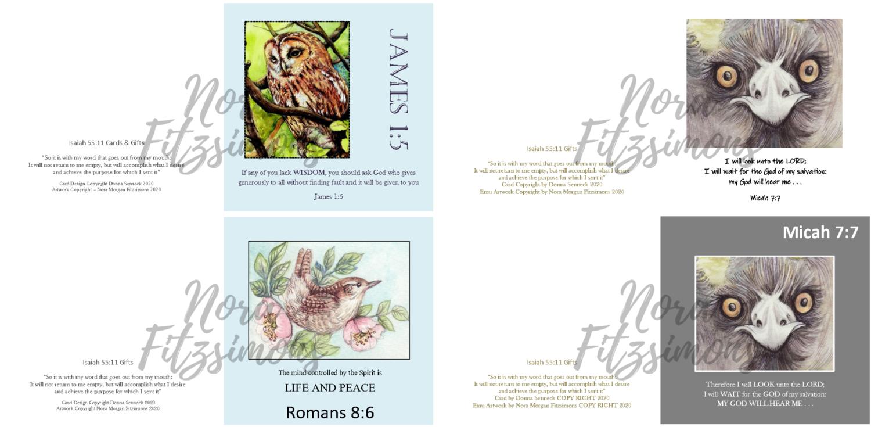 God Will Hear Me Birds Faith Cards - 4 pcs Bundle