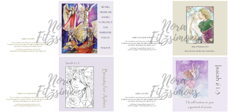 Angels Faith Cards - 4 pcs Bundle