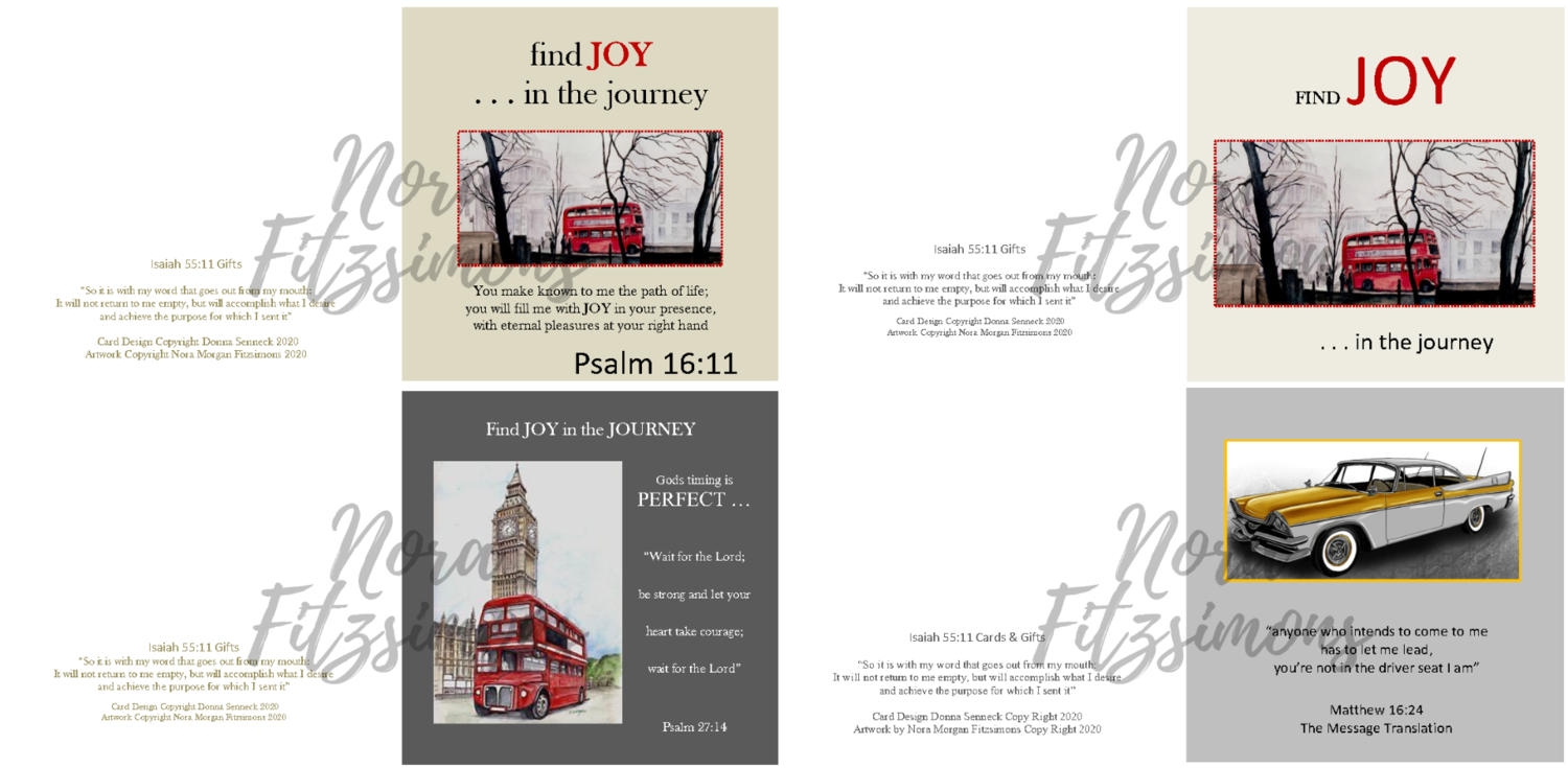 Enjoy The Journey Faith Cards - 4 pcs Bundle