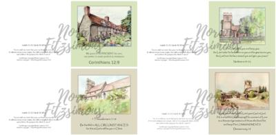 Home Faith Cards - 4 pcs Bundle