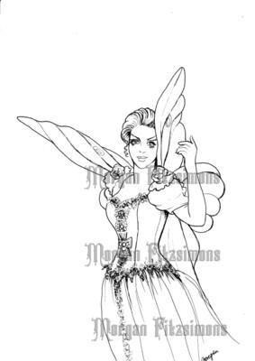 Lucy Goth Fairy 32 - Digital Stamp