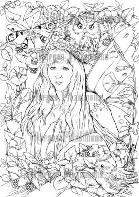 Fantasy Fae 43 - Digital Stamp