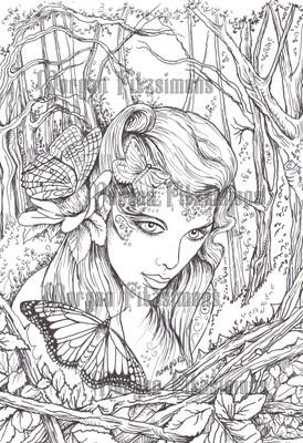 Spirit Of The Wild Wood 38 - Digital Stamp