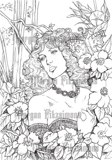 Fantasy Fae 46 - Digital Stamp