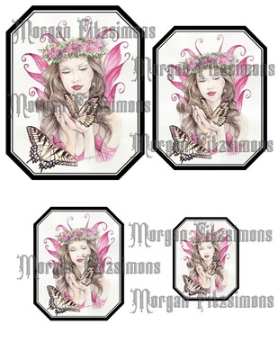 Fantasy Fae Topper - Butterfly Kisses Sheet