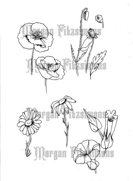 Flower Set 1- Digital Stamp