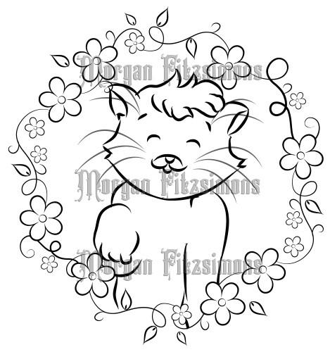Kitten Queen Fluffball 1 - Digital Stamp
