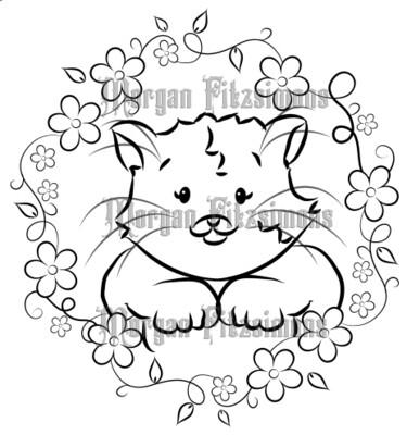 Kitten Queen Nuts 1 - Digital Stamp