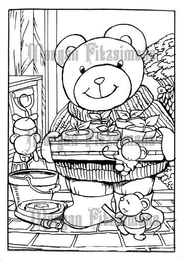 Growing Teddy 3 - Digital Stamp