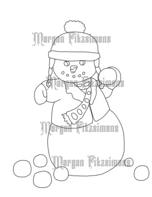 Snowman 1 - Digital Stamp