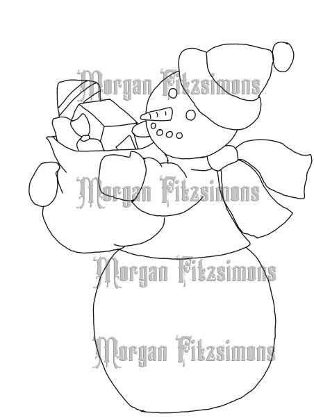 Snowman 3 - Digital Stamp