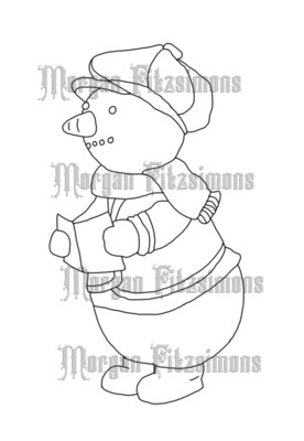 Snowman 4 - Digital Stamp