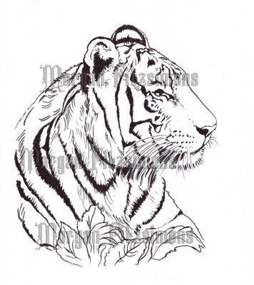Tiger 1 - Digital Stamp