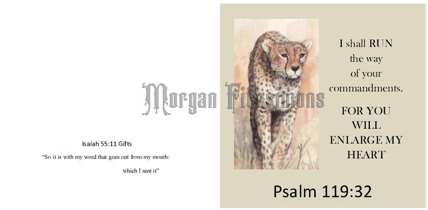 Run The Race Well Cheetah - Psalm - Faith Card
