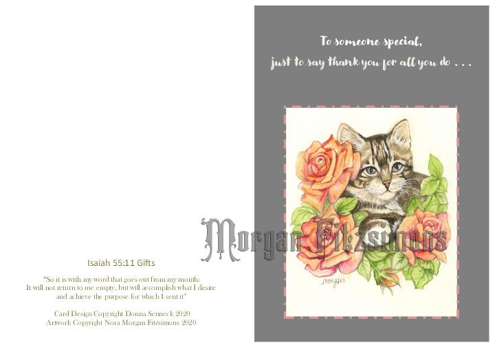 Thank You for All You Do - Cat - Faith Card