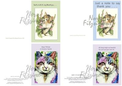 Kittens Faith Cards 2 - 4 pcs Bundle