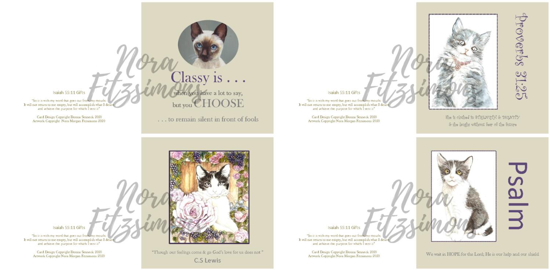 Kittens Faith Cards - 4 pcs Bundle
