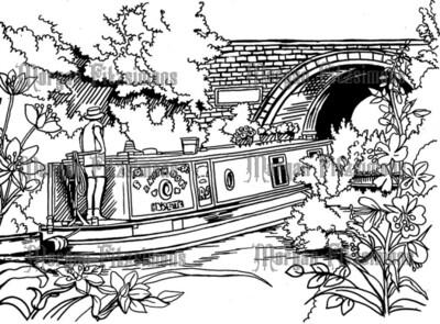 Canal Side 1 - Digital Stamp