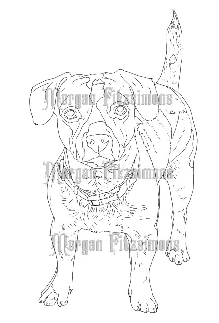 Dog 7 - Digital Stamp